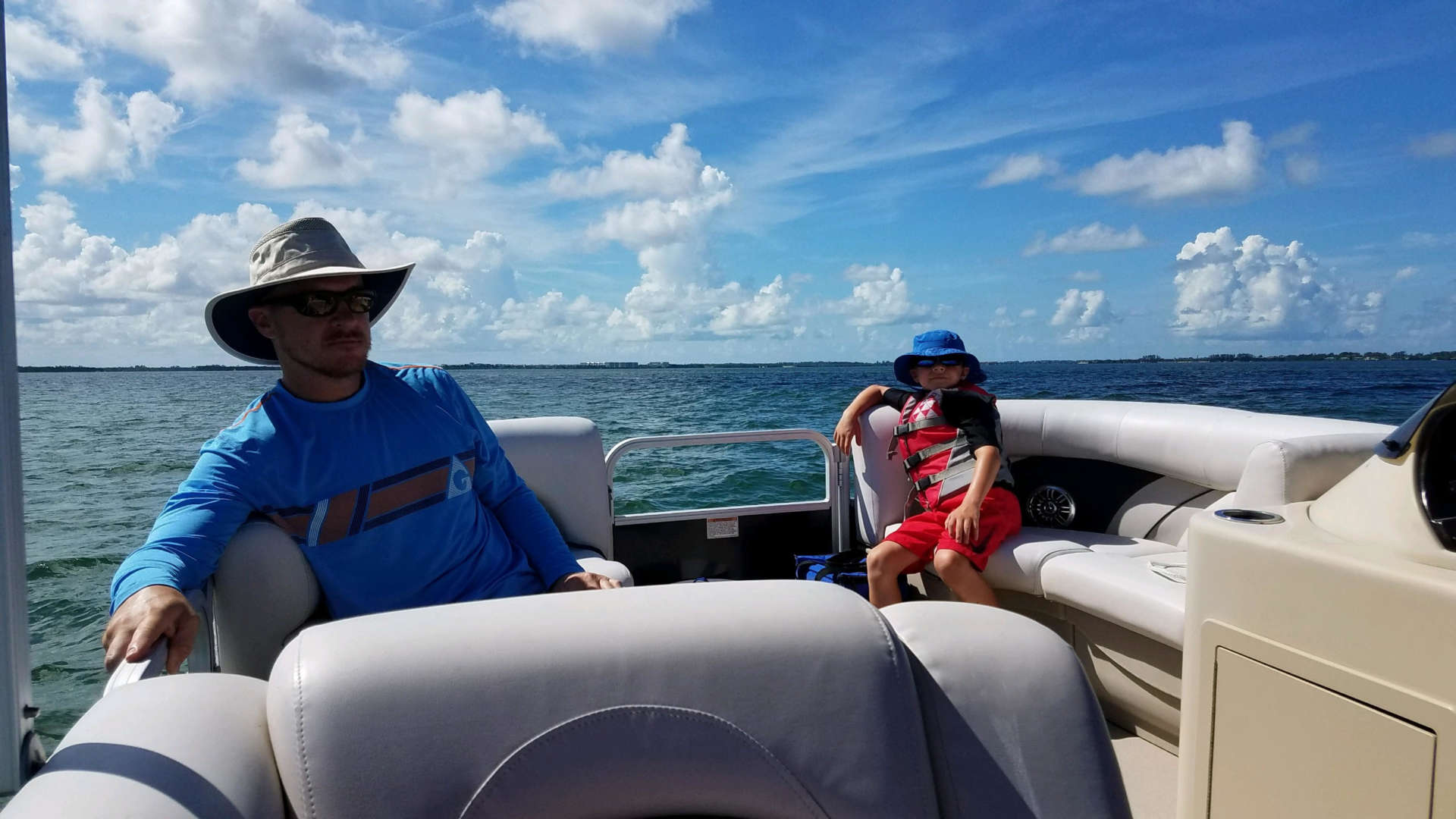Having a cool time out on the water